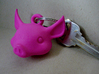 Pig key chain 3d printed Pig Keychain