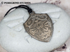 Pendant - Hylian Shield 3d printed Stainless Steel