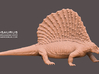 Edaphosaurus 1:20 Scale walking 3d printed