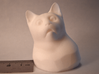 Cat Gasp (5 cm/2 inch) 3d printed White Strong & Flexible