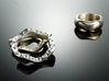 """""""Hitten Hearts """" two or more parts fits together 3d printed cool ... composed with a collared ring"""
