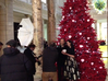 Large Stag Heart by Helen & Colin David 3d printed Helen and Colin posing for press in front of their Christmas Tree at the V&A