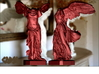 """Winged Victory (20"""" tall) 3d printed Winged Victory of Samothrace (computer rendering, shown in red for contrast)"""
