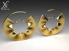 Wavy 3d printed Gold Plated Brass version.