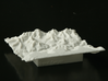 "3'' Grand Canyon Terrain Model, Arizona, USA 3d printed Photo of 3"" print , looking North over the South Rim."
