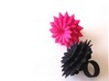 Big Bloom Ring Size 8 3d printed Hot Pink and Black