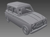 Renault 4 Hatchback 1. gen. 1:160 scale (1 car) 3d printed