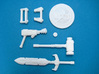 Cosmic Weapons Pack for MOTU and Similar Figures 3d printed White Strong and Flexible Print