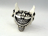 Evil Cheshire Cat - Alice in Wonderland 3d printed I personally hand polished this raw silver ring giving it a satin finish and also added the patina.