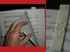 Sheet Music Bookmark with Treble Clef 3d printed