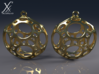 Porthole Earrings 3d printed Cycle render.