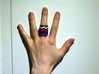 """""""Hitten Hearts """" two or more parts fits together 3d printed 8 part ring"""