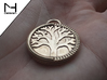 Tree of Life Pendant 3d printed Raw Bronze