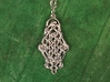 Raindrop Celtic Knot Pendant 40mm 3d printed 40mm long
