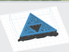Triforce TLoZ FanArt Links weapons 3d printed Preform Software