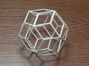 Rhombic Triacontahedron 3d printed 30 sided polyhedron with rhombic faces