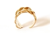 """SPIGA"" Ring US Size 8 (18.2 mm) 3d printed Polished Bronze"