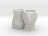 Woven Sine Cups 3d printed