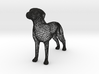 Wireframe dog 3d printed