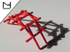 Leonardo Da Vinci's self supporting bridge (Large) 3d printed Self supporting bridge