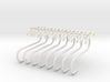 Utensil hooks and showershelf stabilizers 3d printed