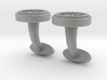 Braille cufflinks circle 3d printed