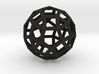 Rhombicosidodecahedron 3d printed