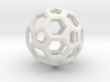 Truncated icosahedron 3d printed