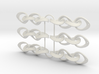 Mobius Strip Earrings 3 x pairs 3d printed