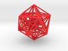 Nested Icosa Dodeca Icosa 100mm - Red Core 3d printed