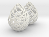 NITTING BALL EARINGS 3d printed