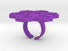 Honeycomb Flower ring Small 3d printed