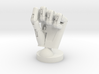 Cyborg hand posed fist small 3d printed