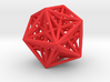 Morphoedron from internal icosahedron to external 3d printed