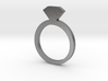 Ring5112 2D Silver Diamond Ring Size6 3d printed