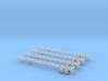 53 foot Container Chassis II - Set of 4 - Z scale 3d printed