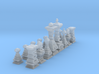 Mini Typographical Chess Set 3d printed