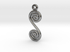 Spirals earring or pendant 3d printed