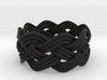 Turk's Head Knot Ring 4 Part X 8 Bight - Size 8 3d printed