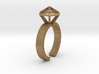 L Gold Stereodiamond Ring 188 (59) 3d printed