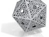 Screened Icosahedron 3d printed