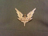 Elite - wings / badge 3d printed Photo showing the badge produced in Gold Plated Glossy