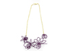 Flora Necklace 3d printed Eggplant (Custom Dyed Color)