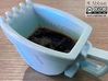 Excavator Bucket - Espresso Cup (Porcelain) 3d printed (old ceramic) The real one in blue