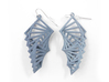 Arithmetic Earrings (Rhombus) 3d printed Azurite Nylon (Custom Dyed Color)