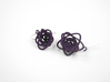 Sprouted Spiral Earrings 3d printed Midnight Nylon (Custom Dyed Color)