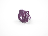 Arithmetic Ring (US Size 8) 3d printed Eggplant Nylon (Custom Dyed Color)