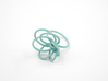 Flora Ring A (Size 7) 3d printed Teal Nylon (Custom Dyed Color)