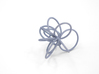 Flora Ring B (Size 9) 3d printed Azurite Nylon (Custom Dyed Color)