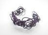 Sprouted Spirals Cuff (Messy) 3d printed Midnight Nylon (Custom Dyed Color)